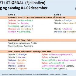Easybasket, EBC og U13 - Lørdag og søndag 01-02.desember